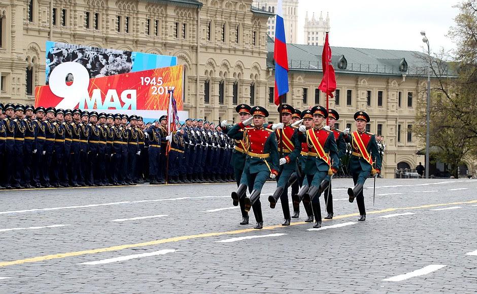 Parata militare in occasione del 72 ° anniversario della vittoria nella Grande Guerra Patriottica del 1941-1945.