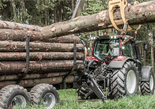 Valtra 4-series tractors in the forest | Forestry.com