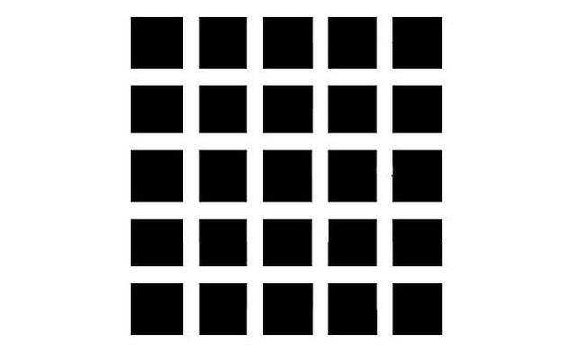 Ένα άλλο κλασικό, αυτό ονομάζεται η ψευδαίσθηση Hermann Grid και έχει προκαλέσει σύγχυση τους ανθρώπους από τη δεκαετία του 1870.