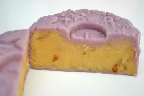 Lavender macadamia green bean snowskin mooncake