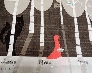 Detail from Fairytale Tea Towel
