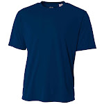A4 Youth Cooling Performance Crew T-Shirts Blue