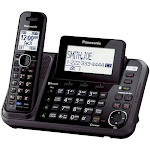 Panasonic - KX-TG9541B DECT 6.0 Expandable Cordless Phone System with Digital Answering System