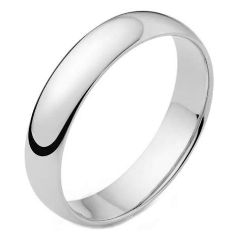 Mens Platinum 4mm D shape Wedding Ring 6 grams 075121
