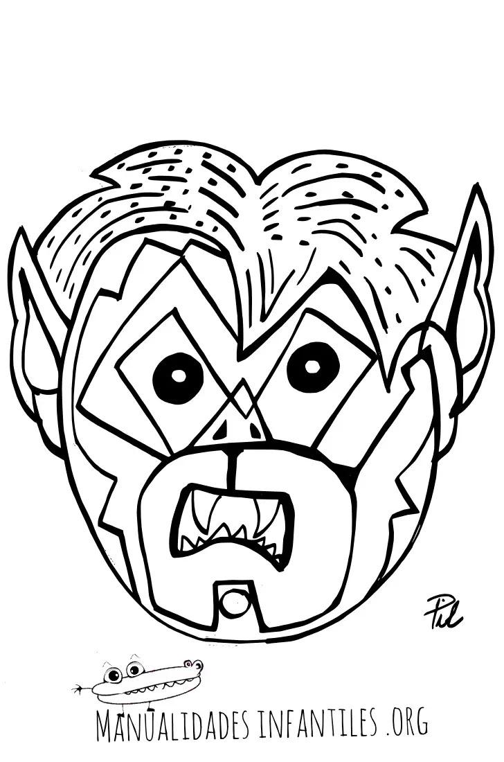 Máscara De Niño Vampiro Para Imprimir Y Colorear Actividades Para