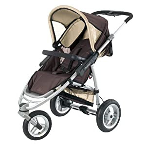 Quinny 70301830 - Speedi, Jogger inklusive Einkaufskorb, Sonnenverdeck, Spielbügel und Adapter für Dreami und Babyschale, Fudge