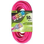 Prime NS513830 Neon Pink Flex Extension Cord 50 ft.