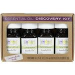 Aura Cacia Essential Oil - Discovery Kit - 0.25 Fl Oz - Set of 4