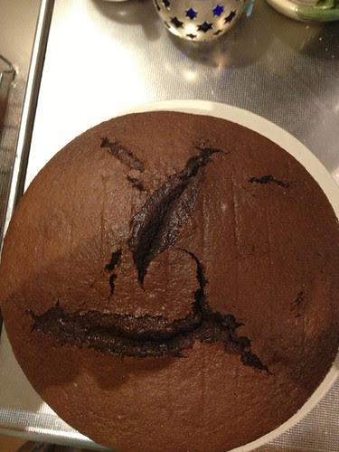 face in my cake!
