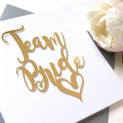 Luxe Gold Team Bride Card   Shop Online   Hummingbird Card