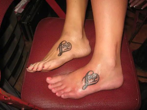 Heart Tattoos On Foot Designs