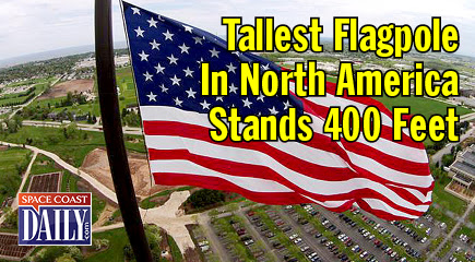 VIDEO: Amazing Flagpole Stands 400 Feet Tall