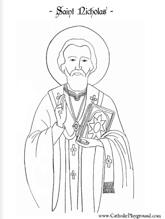 Saints Coloring Pages – Catholic Playground | 451x341