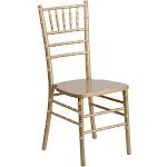Flash Furniture Hercules Series Wood Chiavari Chair, Gold