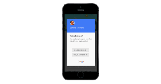 Google Prompt streamlines two-step verification