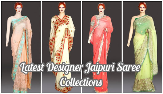 Latest Designer Jaipuri Saree Collections | Rajasthani Gota Work in Saree
