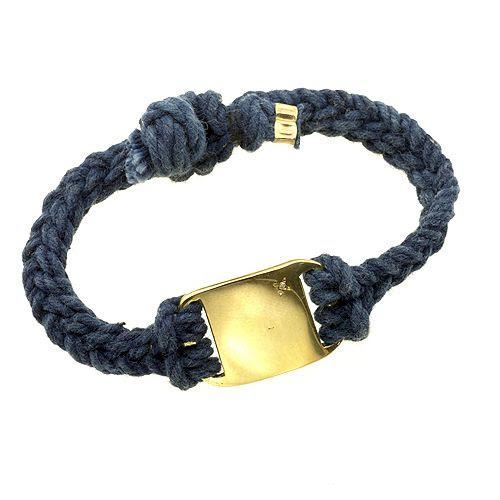 Hand woven indigo bracelet