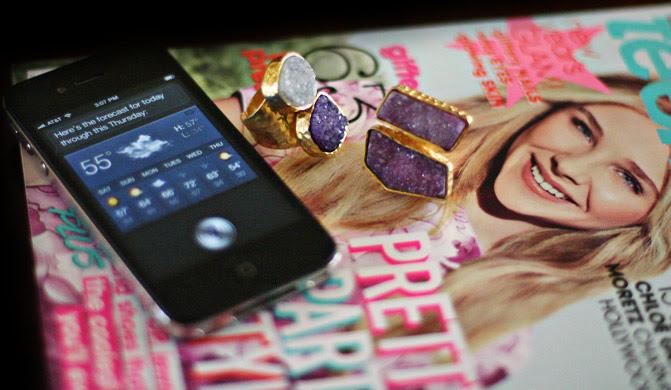 iPhone 4S, Ten Vogue magazine, Fashion rings