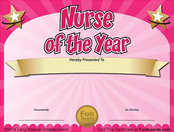 funny award ideas  nurse of the year award certificate free