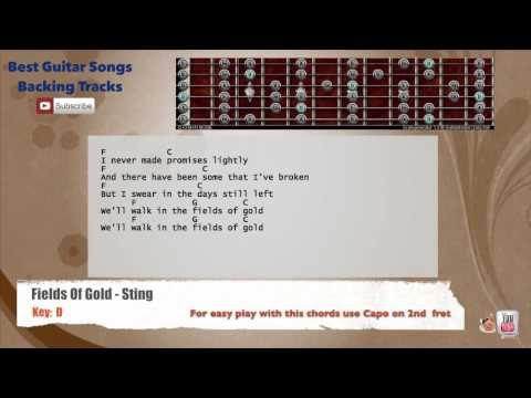 Best Songs Backing Tracks BSBT: Fields Of Gold - Sting Guitar ...