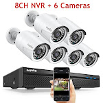 8CH POE 5M NVR Kit CCTV Security System 2MP IR Outdoor Waterproof IP Camera with Mic Audio Record Video Surveillance Set China / 1T / Pink