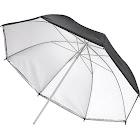 """Insignia - 33"""" Dual-Layer Umbrella - White/Silver/Black"""