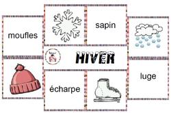 vocabulaire - l'hiver