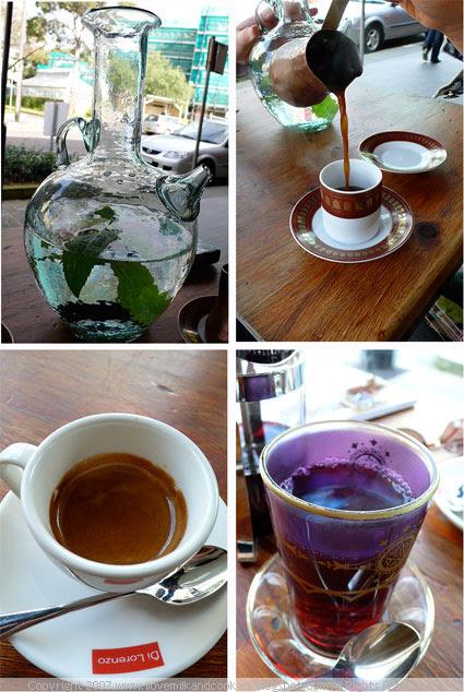 Water, Coffee, Tea