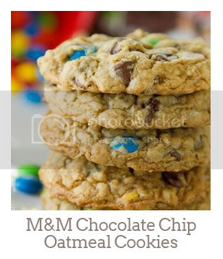 """""""M&M Chocolate Chip Oatmeal Cookies"""""""