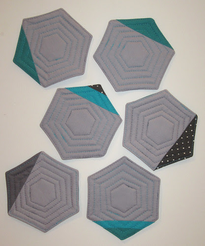 hexie coasters backs
