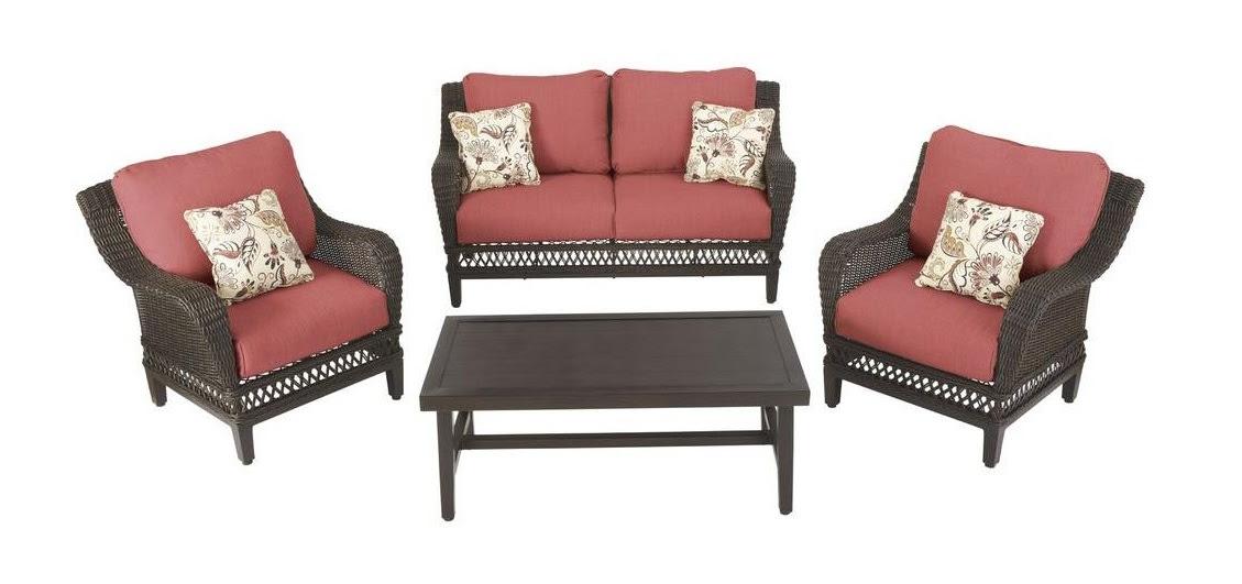 Hampton Bay Woodbury Cushions - Patio Furniture Cushions