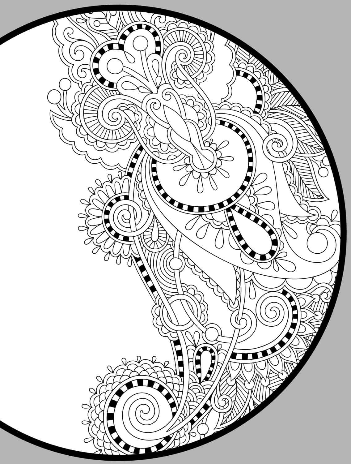 Free Printable Christmas Coloring Pages for Adults Easy Peasy and ...