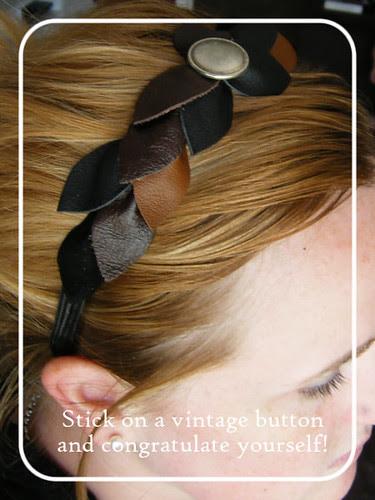 Scrappy leather headband 11