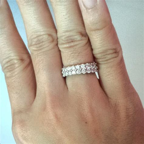 Double Eternity Ring From Lee Hwa Jewellery. 100% Genuine