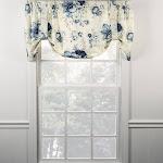 Ellis Curtain Sanctuary Rose Lined Tie Up Valance Cornflower
