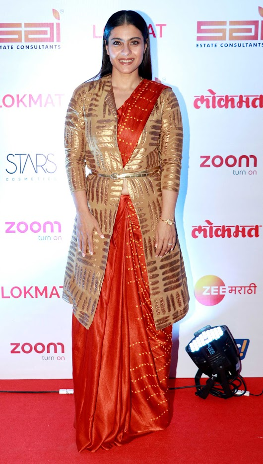 You Need To Check Out Kajol's Bandhani Sarees With Gold Jacket Style Is Unbelievable