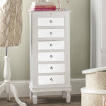 Hives & Honey Amy White Jewelry Armoire Jewelry Stand with Mirror