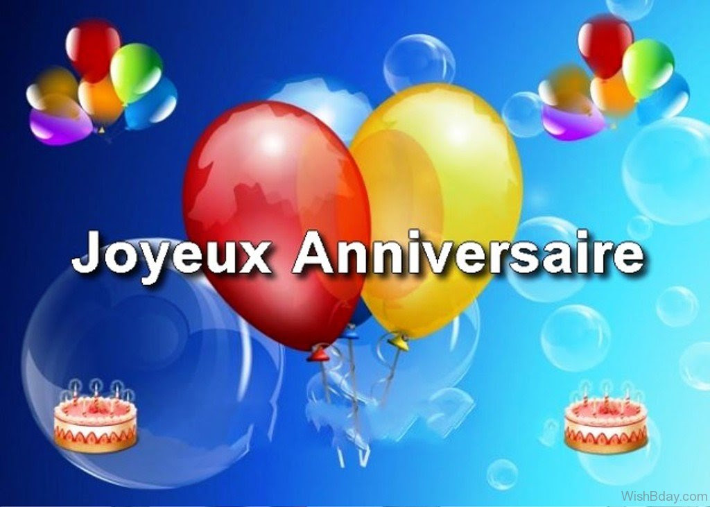 Happy Birthday My Friend In French | Birthday Cake