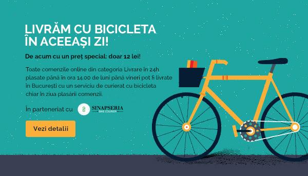 Livrare cu bicicleta in aceeasi zi pe carturesti.ro