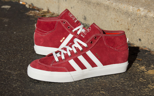 New Marc Johnson Adidas Matchcourt Mid Mystery Red