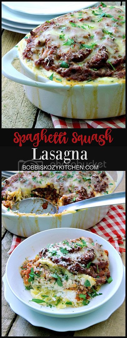 This Spaghetti Squash Lasagna gives you all of those great lasagna flavors with none of the guilt.