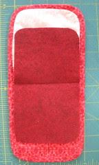 Trim corners of felt to echo curves of kit