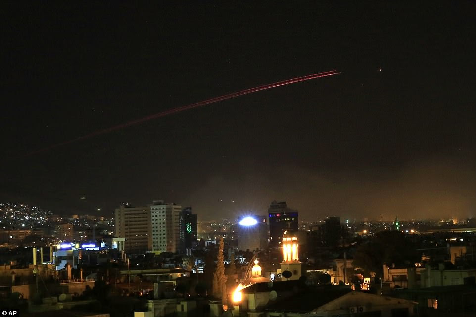 Anti-aircraft fire over the Syrian capital of Damascus overnight. The Ministry of Defence confirmed they fired Storm Shadow cruise missiles at a military facility – a former missile base – some fifteen miles west of Homs