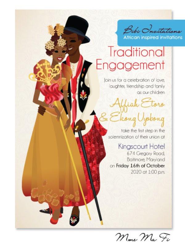 Igbo Traditional Wedding Invitation Cards Wedding Invitation Wording