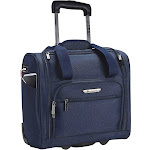 """Travelers Club TPRC Underseater USB Port Carry-On Luggage, Blue, One Size, 15"""""""