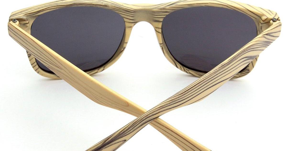 BELI Autoleader Bingkai Kayu Retro Zebra Butir Kacamata Hitam Kacamata Olahraga Perjalanan Krem Lis Kelabu Lembar