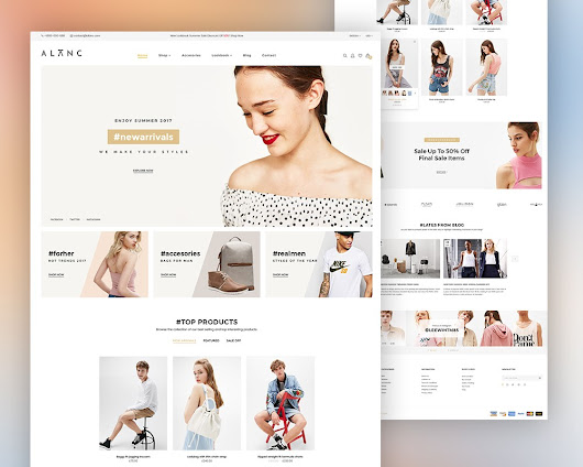 eCommerce Website Theme PSD Template Download - Download PSD