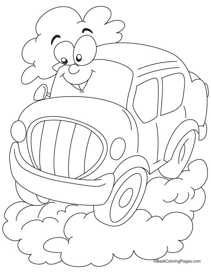 Cartoon car coloring pages | Download Free Cartoon car ...