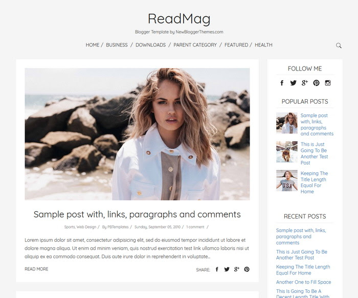 ReadMag Blogger Template