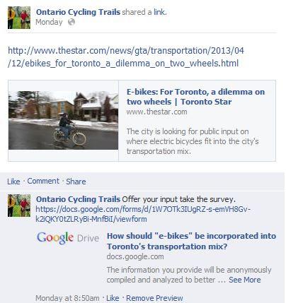 cycling e-bike survey